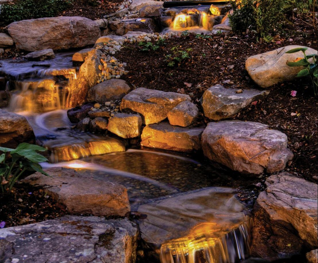 Atlantic Professional Pond Contractor LED Water Feature Lighting Installations