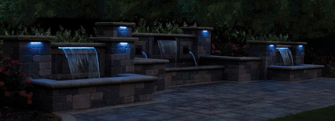 Atlantic Professional Pond Contractor LED Formal Fountain Water Feature Lighting Installations
