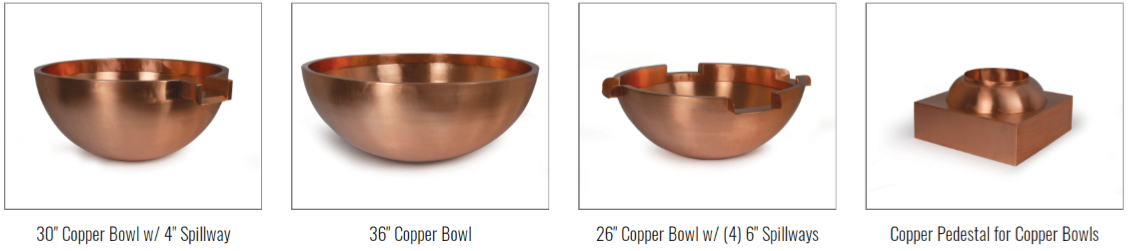 Atlantic Copper Bowl Spillways & Fountains