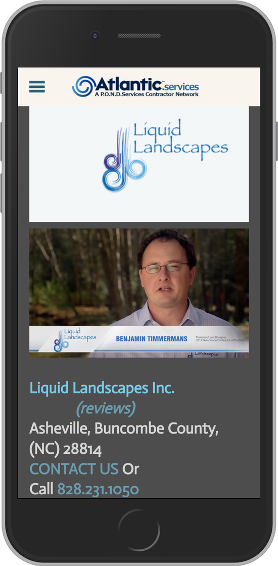 Atlantic Professional Contractor - Liquid Landscapes - Asheville, North Carolina (NC)